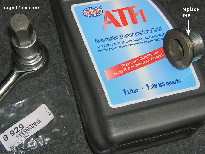Filling the Automatic Transmision Fluid on an Audi A4